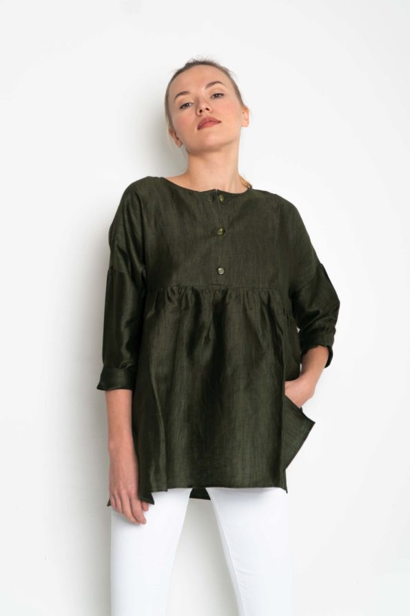 camisa link khaki sweet couture
