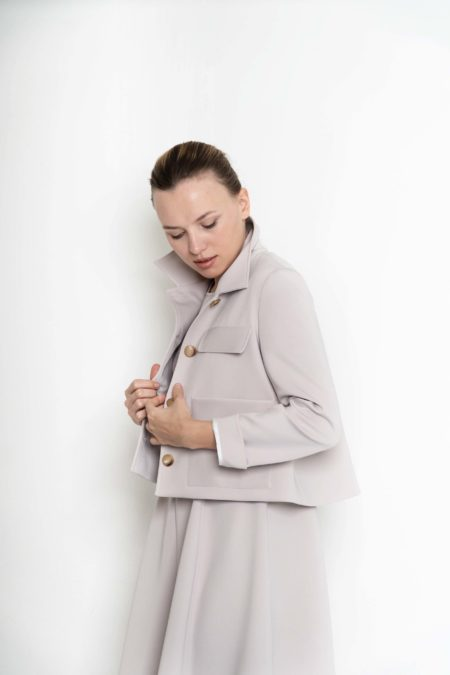 chaqueta beige sweet couture