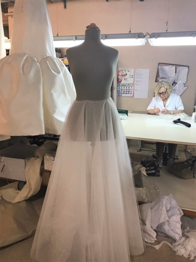 Process For Making A Wedding Dress
