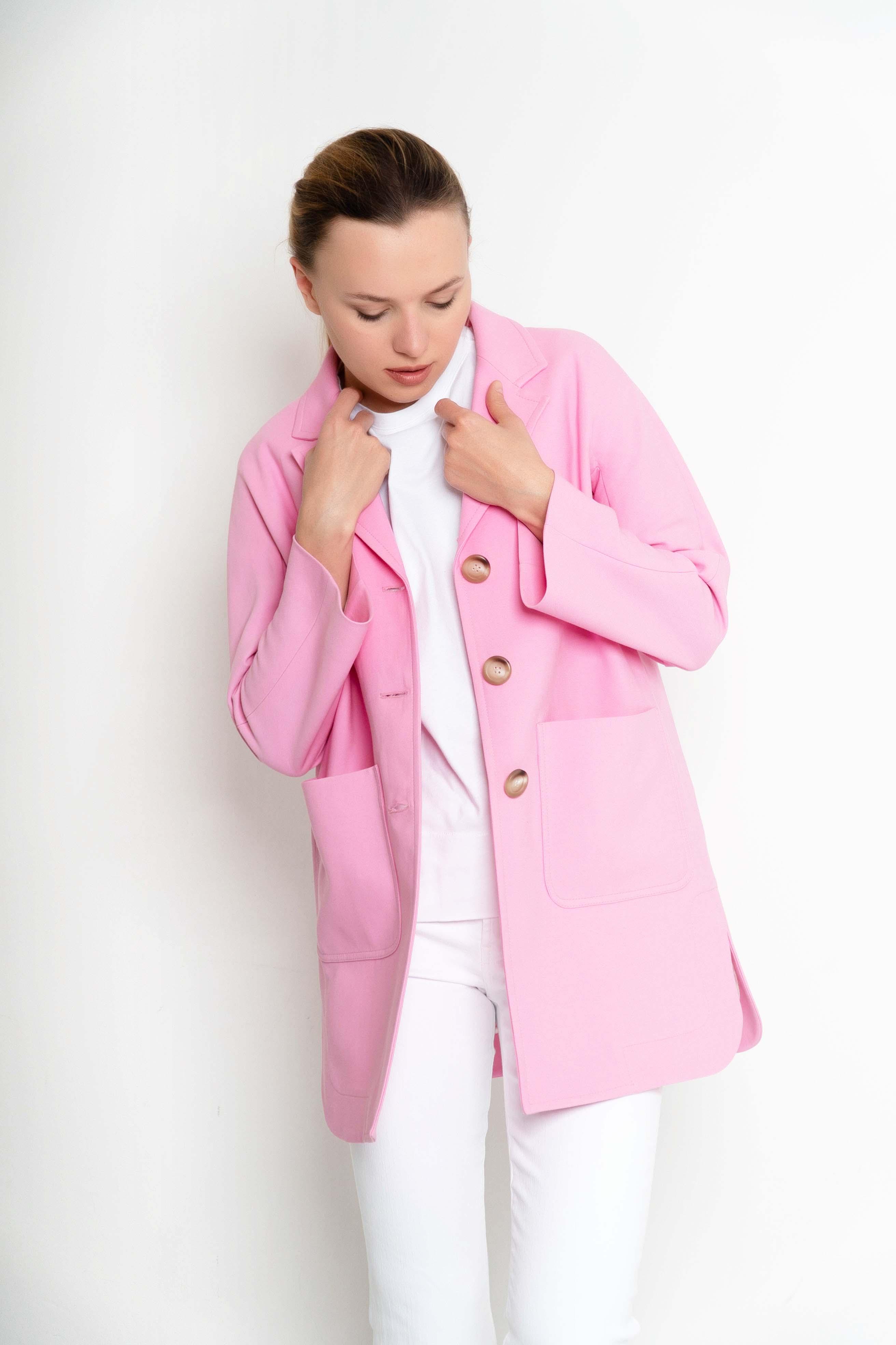 jaqueta rosa entretemps