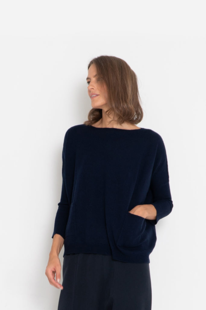 jersey de lana marino