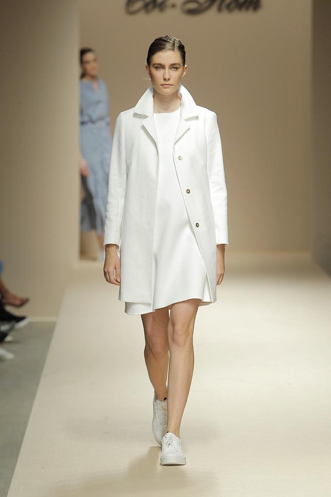 vestido evase blanco
