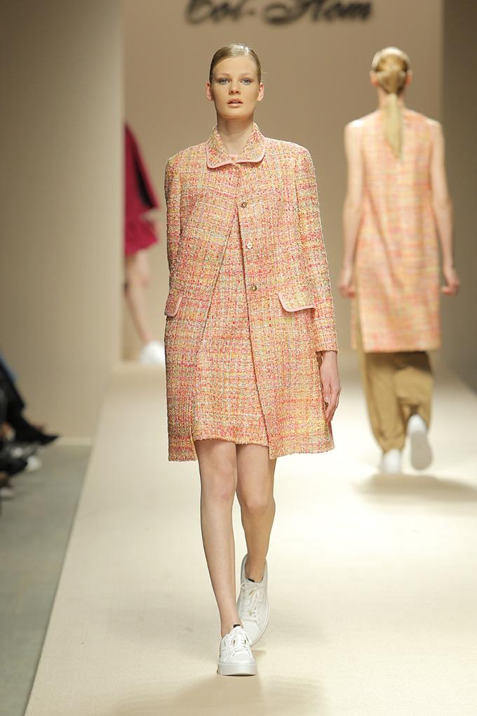 Vestido evasé tweed