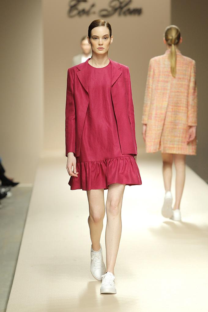 Vestido lino fucsia