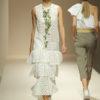 Vestido volantes bordado