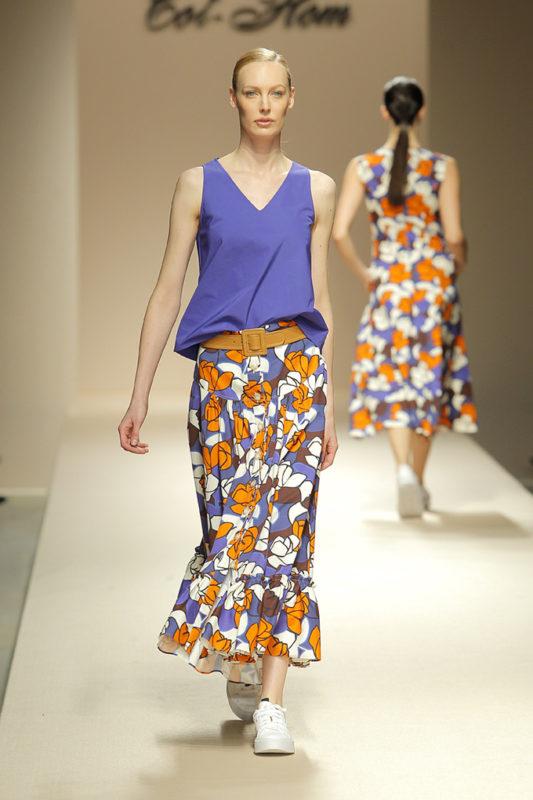 oversize falda midi