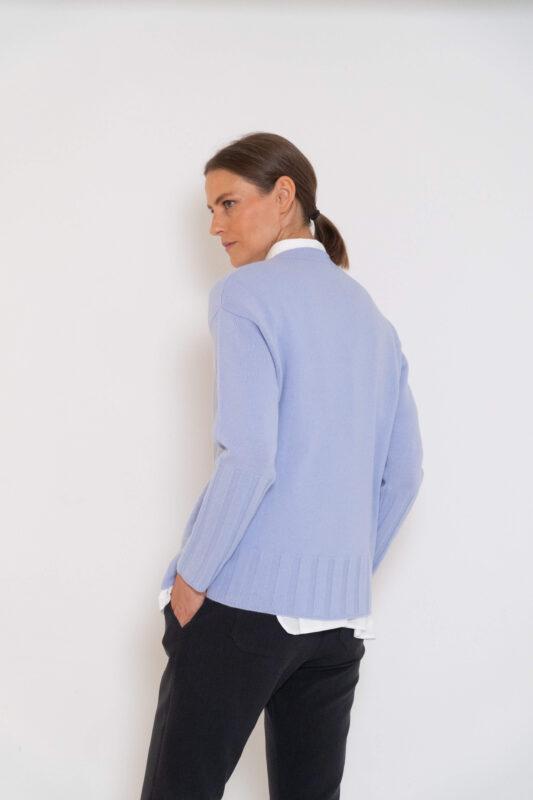 jersey de lana azul