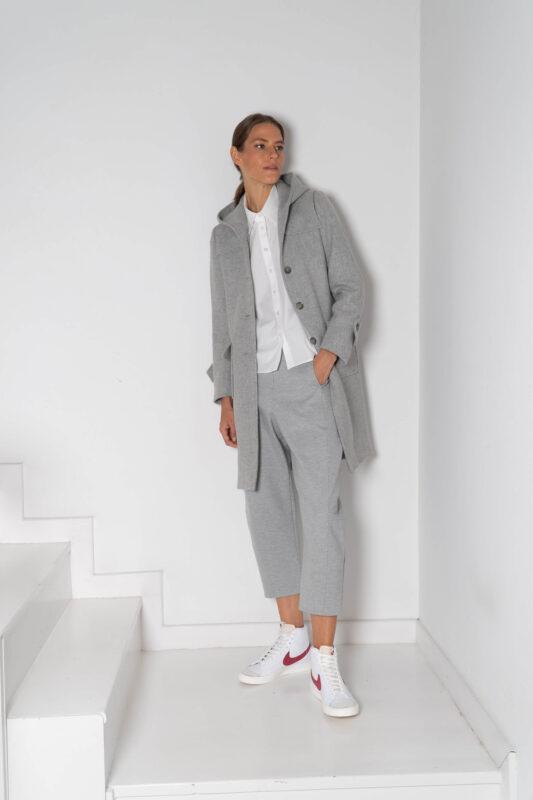abrigos de lana gris