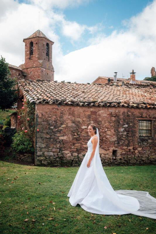 vestido de novia de algodón