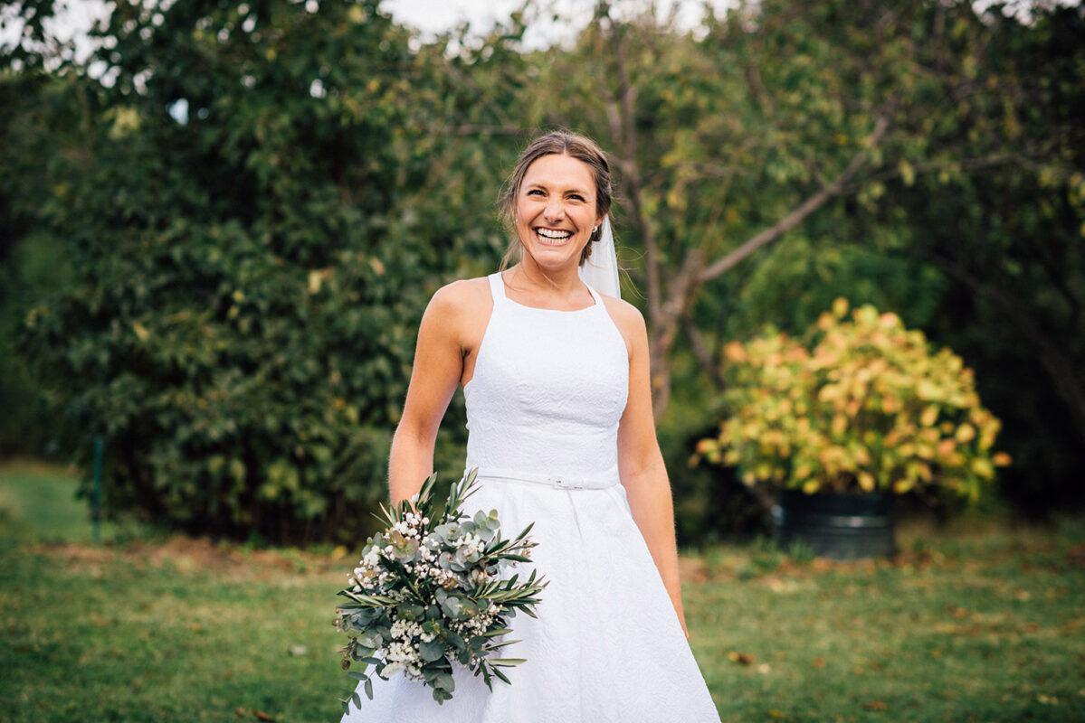 vestit de núvia de cotó