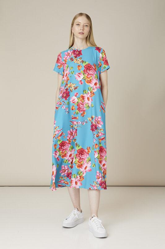 vestido estampado de flores tot-hom
