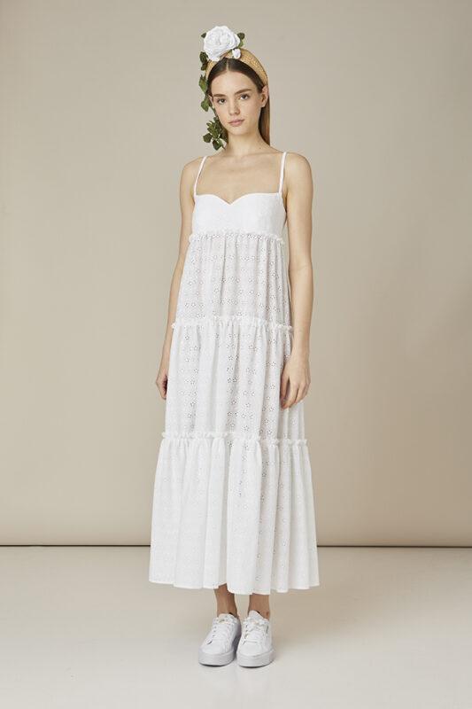 vestido de playa blanco